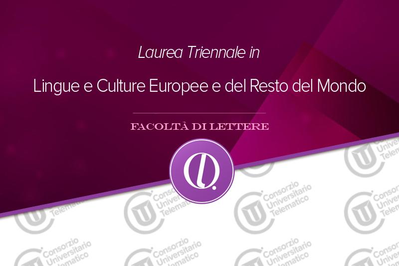 Lingue e Culture Europee e del Resto del Mondo