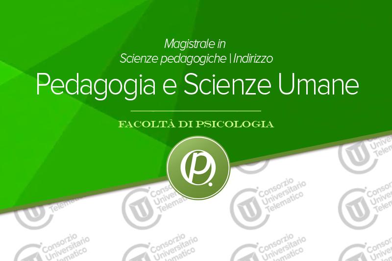 Scienze pedagogiche indirizzo Pedagogia e Scienze Umane