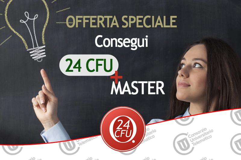Offerta speciale 24 cfu più un master